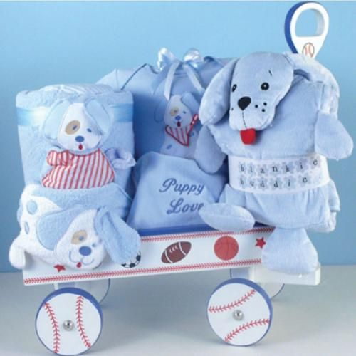 Puppy Love Deluxe Wagon-Boy - http://www.247babygifts.net/puppy-love-deluxe-wagon-boy-3/