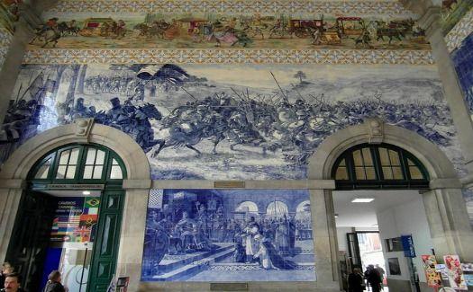 São Bento Railway Station, Porto, Portugal is considered one of Top 10 eye-catching train stations - By Jessica Padykula via Cheapflights.com - March 2015