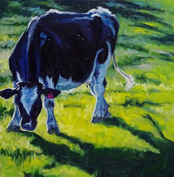 Casting Long Shadows (large version) by Sonja Caywood Oil ~ 36 x 36