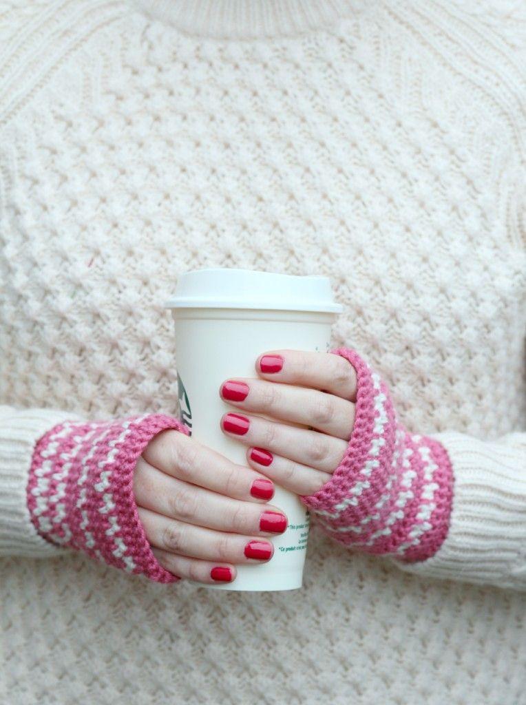 Spike Stitch Crochet Handwarmers Pattern - | Crochet Wearables 2 ...