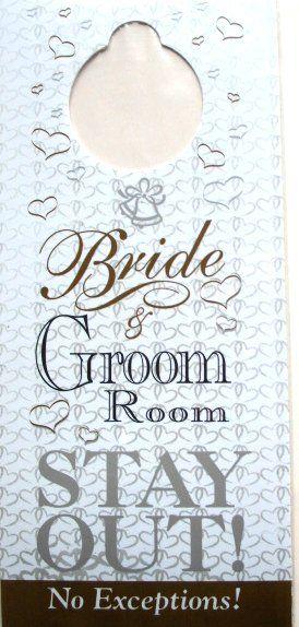 Bride And Groom Room Stay Out Door Hanger For Wedding Night