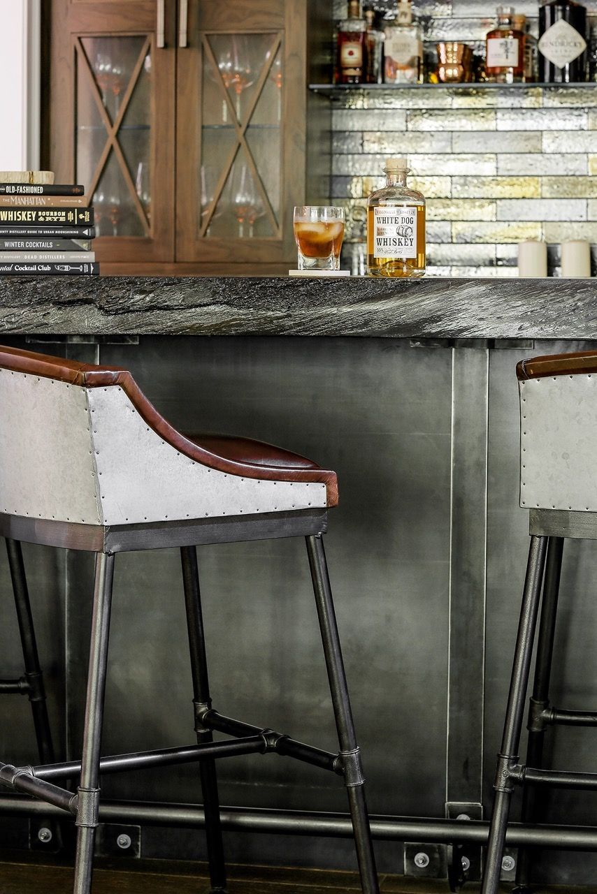 Our Artistic Tile metallic brick tiles are being installed in our ...