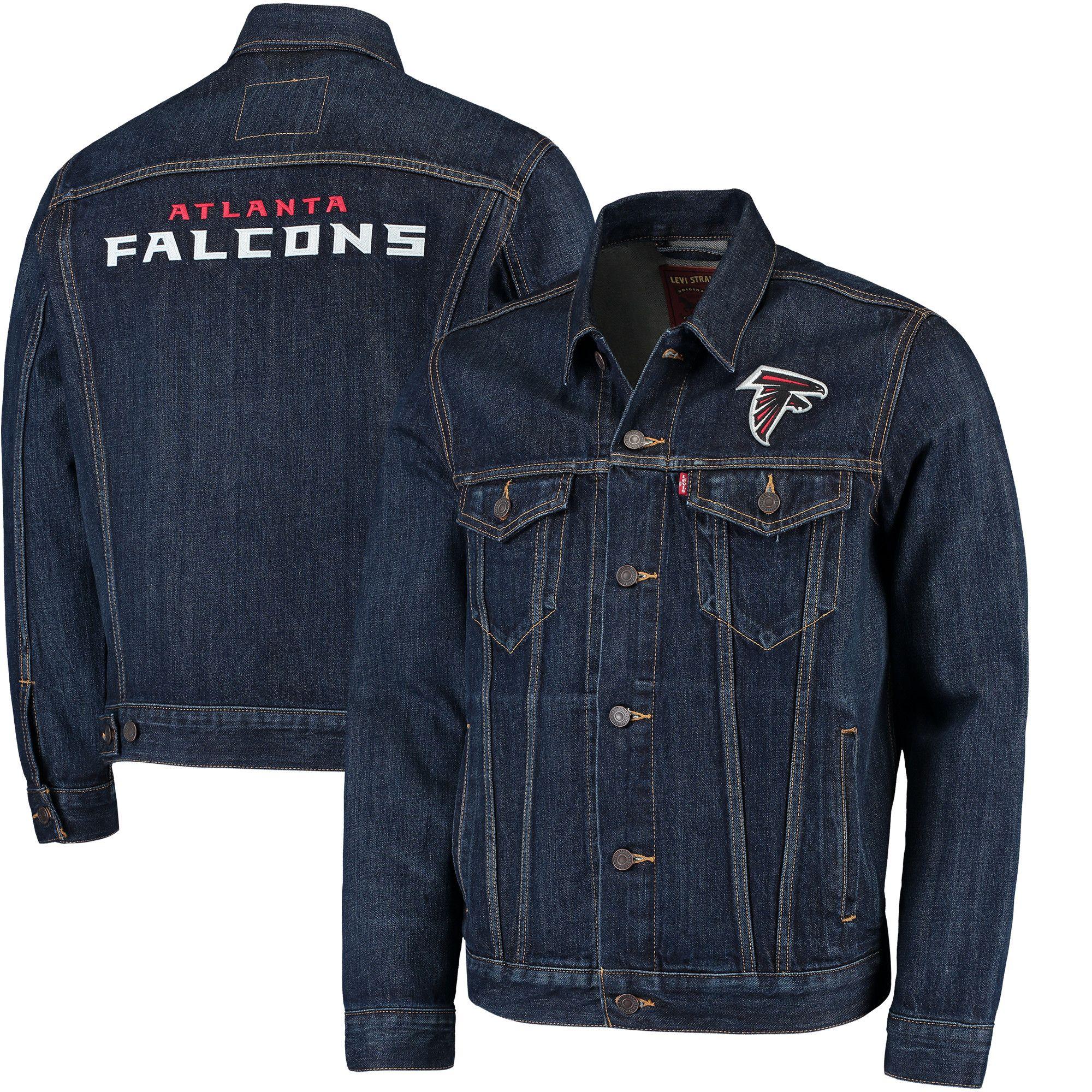Nfl Atlanta Falcons Levi S Sports Denim Trucker Jacket Blue Atlanta Falcons Trucker Jacket Jackets [ 2000 x 2000 Pixel ]