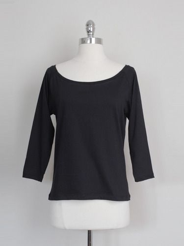 Ethical Taurus black boatneck tee by One Mango Tree (from Fashioning Change) - Made from GOTS certified cotton in a transparent fair trade arrangement in Kampala, Uganda