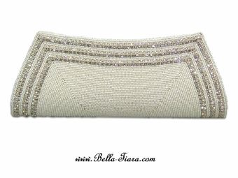 Trista - Elegant Swarovski crystal ivory bridal wedding purse - SPECIAL ONE LEFT