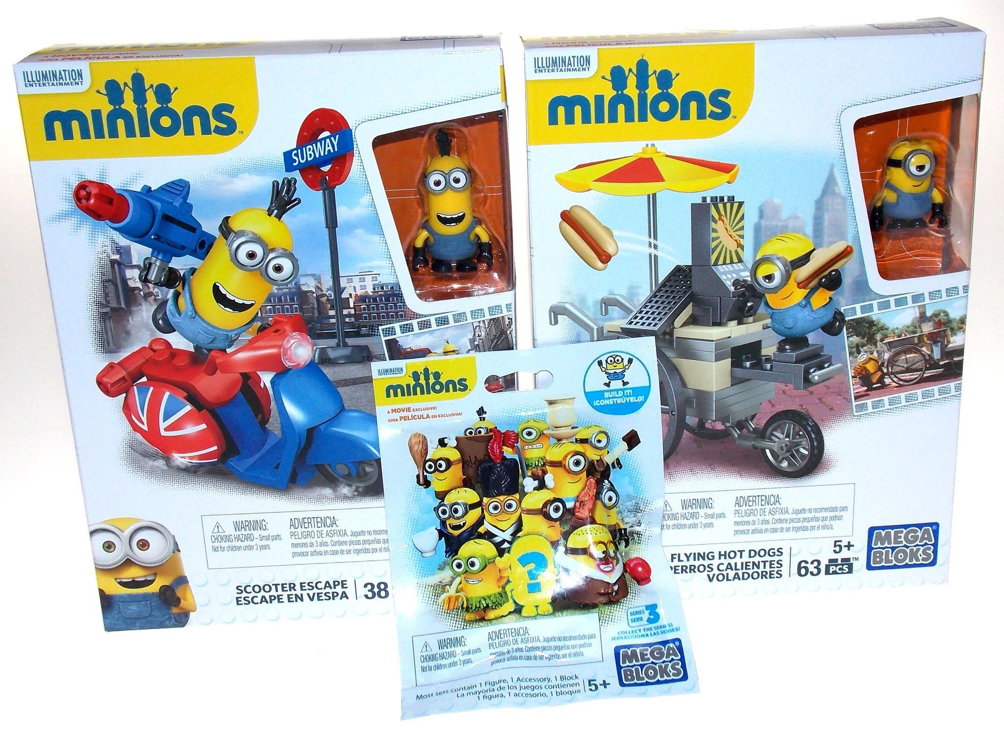 Fox and friends mega deals and steals - Illumination Entertainment Minions Mega Bloks Lot Of 3 Toys Includes Scooter Escape 38