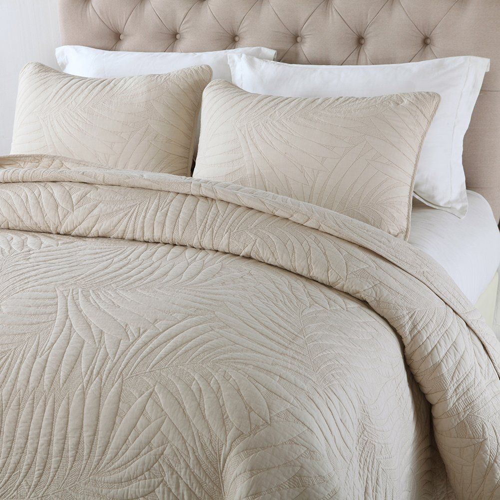 Newlake Bedspread Quilt Setscotton Patchwork Coverlet Setbeige Banana Leaf Pattern Queen Size You Can Get Additional Detai Bed Spreads Quilt Sets Queen Size