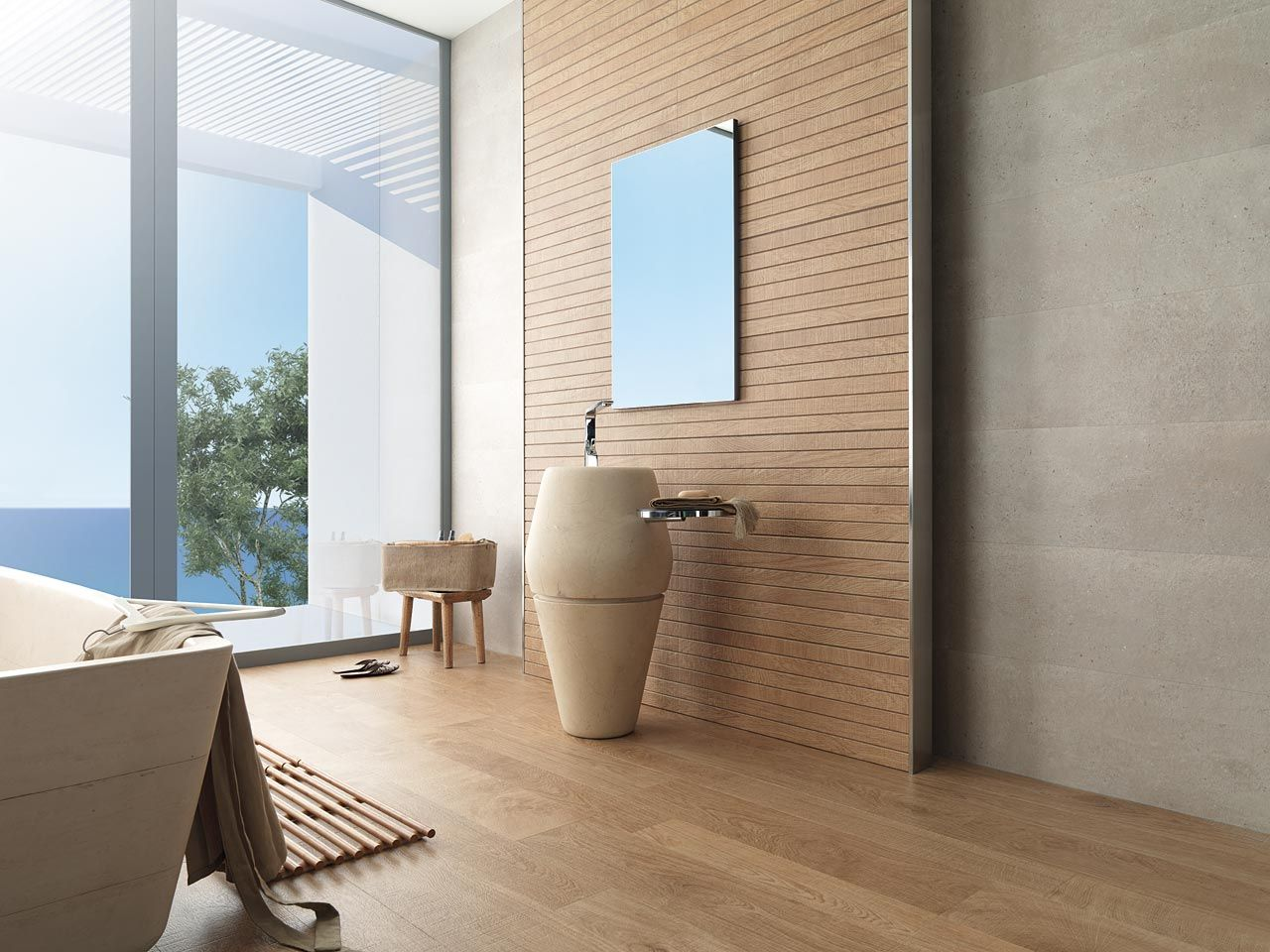 Allways cabin contemporary bathroom perth by ceramo tiles - Porcelanosa Liston Oxford Natural Timber Panelling Look Tile Available To Order In At Ceramo