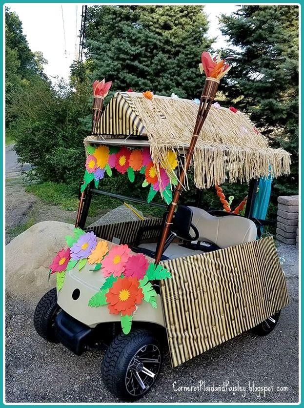 Corner Of Plaid And Paisley Golf Carts Golf Cart Decorations Custom Golf Carts