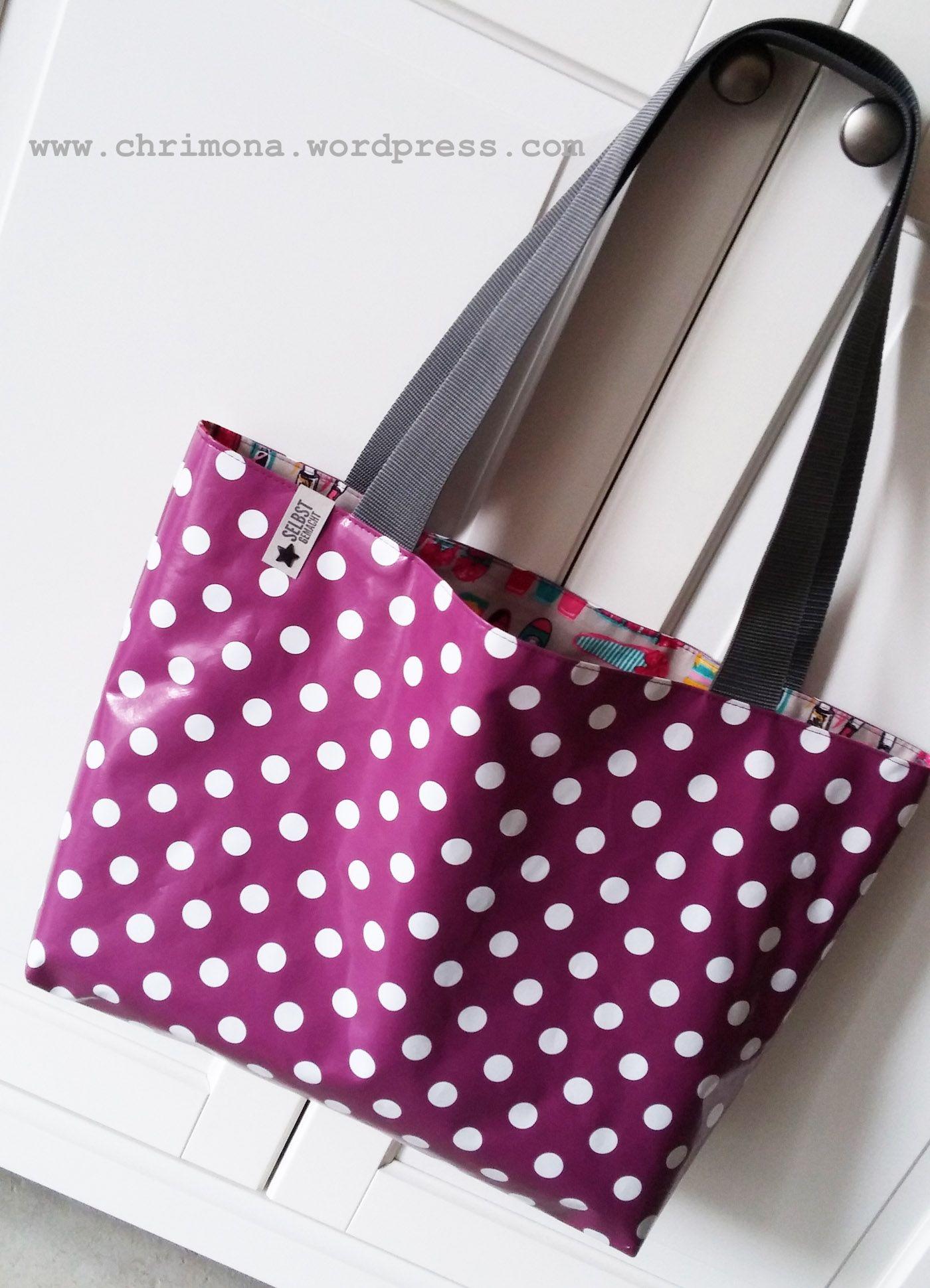Chrimona - Shopper Tasche aus Wachstuch - mit kostenloser Anleitung ...