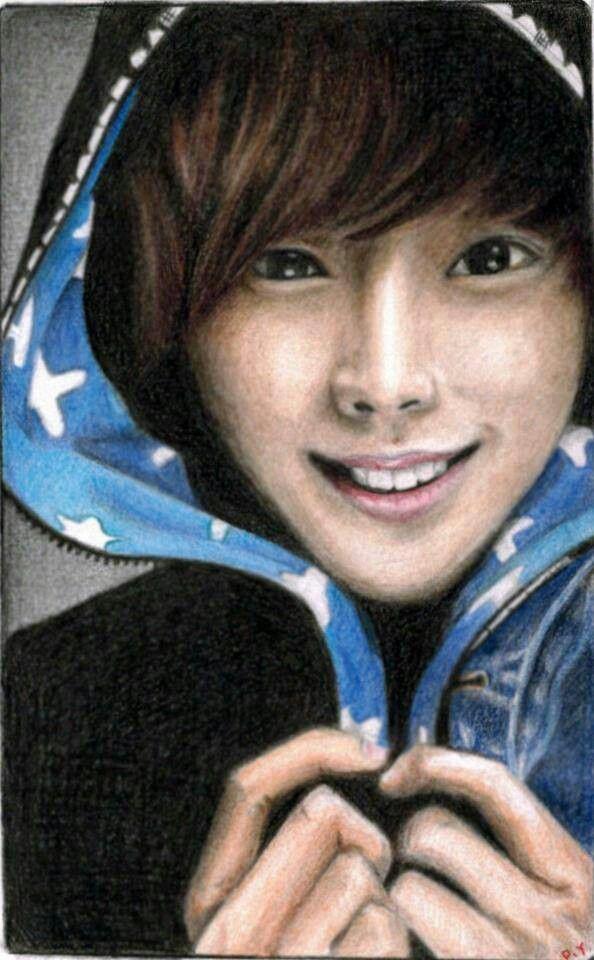 Peilin Yao's drawing of B1A4 Jinyoung...She got third place of the K-Crush fan art contest :) Its amazing...I love it