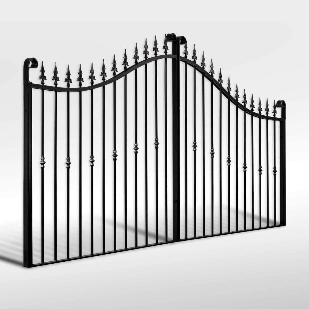 The Winterfold Wrought Iron Driveway Gate Wrought Iron