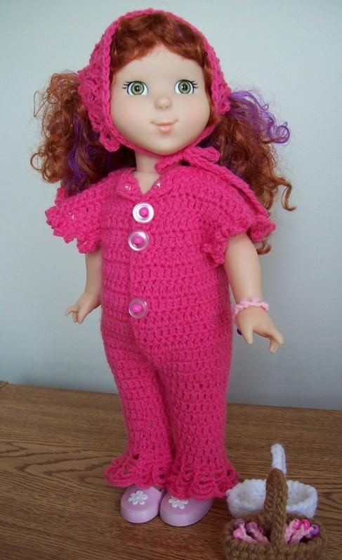Free crochet pattern for 18 inch or American Girl Doll.   Free ...