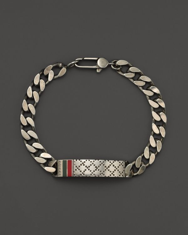 b6eba266d9a48 Gucci Men s Bracelet with Diamantissima Motif