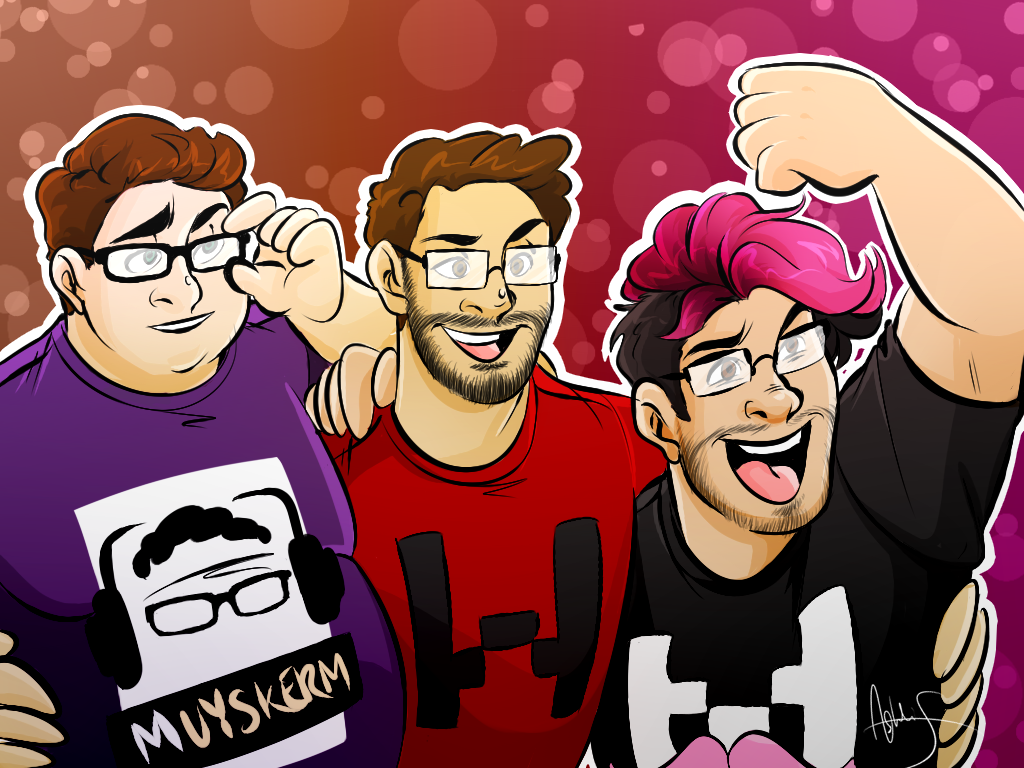 birdystark the whole squad markiplier lordminion and muyskerm