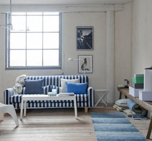 Bianco e blu per la casa al mare casa al mare for Ikea cuscini arredo