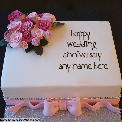 Online Happy Anniversary Cakes With Name On It Anniversaries