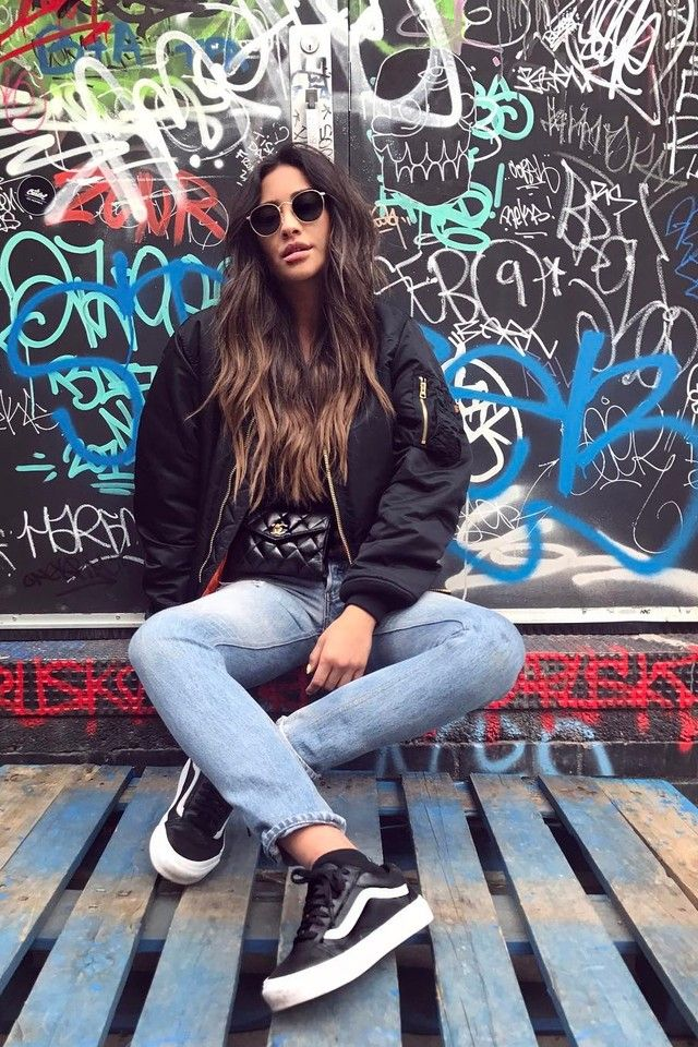 d8363ce309dd38 Shay Mitchell wearing Alpha Industries Bomber Jacket