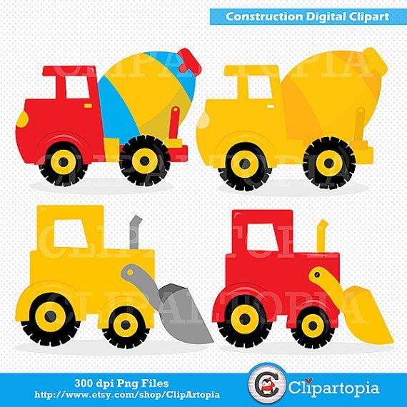 Construction Digital Clipart Construction Etsy Clip Art Free Clip Art Paper Crafts