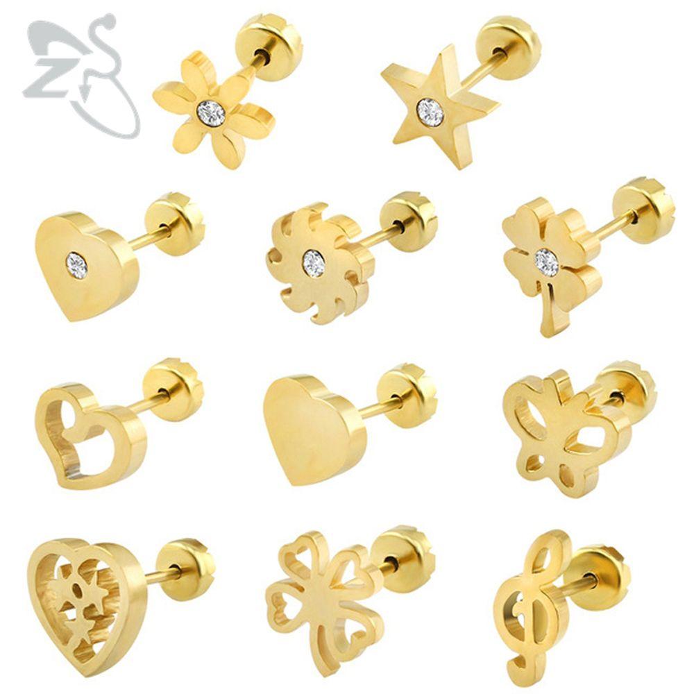 e69a7aff21098 Baby Earrings Stainless Steel Kids Earrings Fashion Jewelry Girl ...