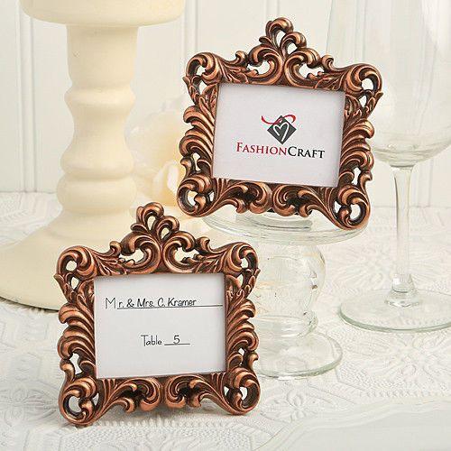 25 Vintage Baroque Picture Frames Style Place Card Holder Wedding Favor Bulk Lot Wedding Frames Vintage Wedding Favors Wedding Favors