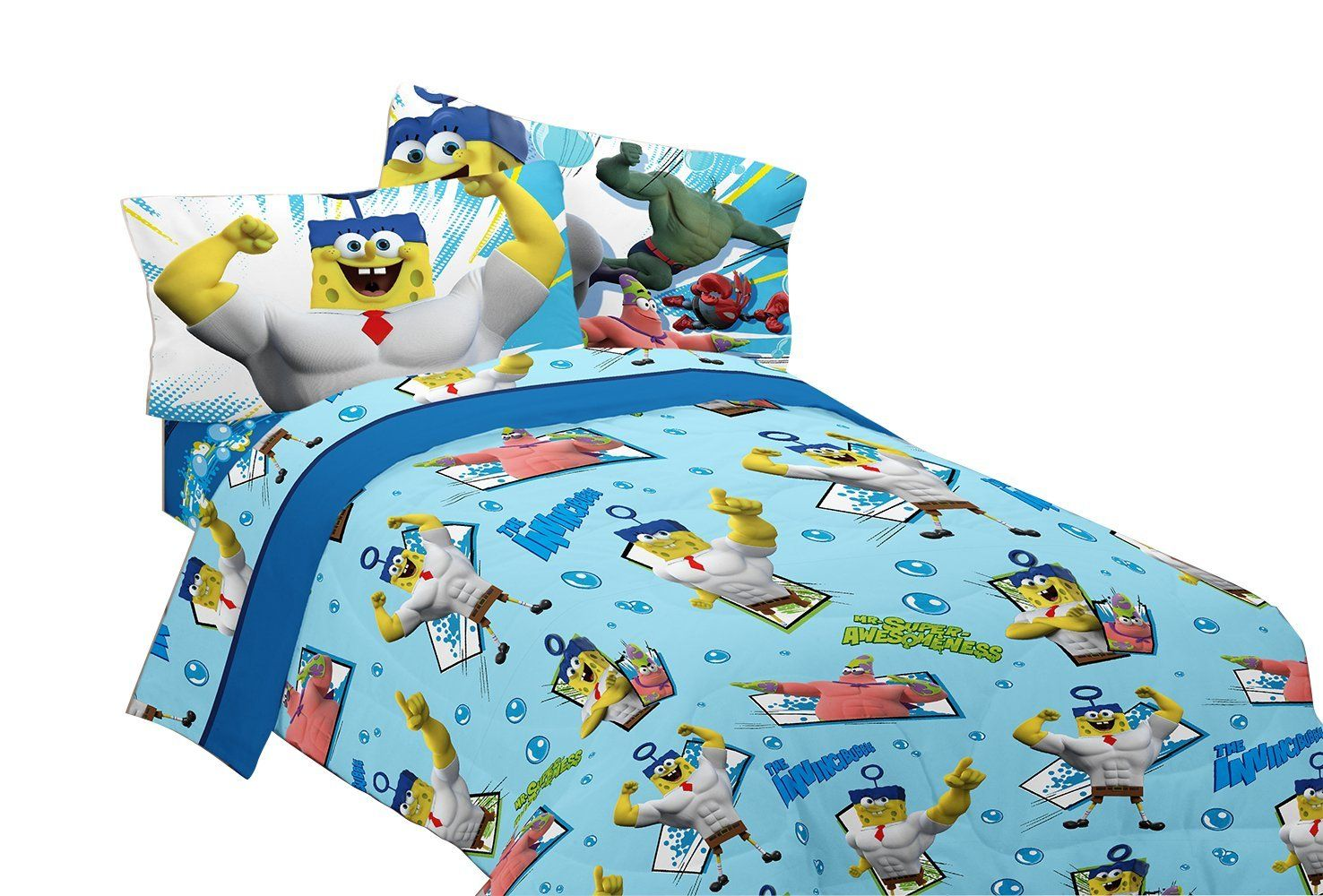 Nickelodeon Sponge Bob Mr. Awesome Twin Sheet
