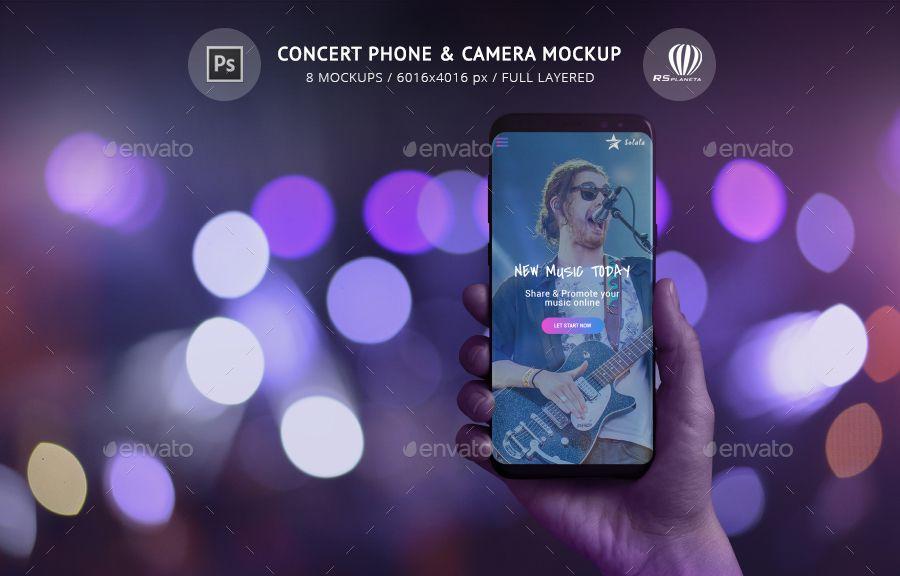 Concert Phone Camera Mockup Concert Mockup Camera