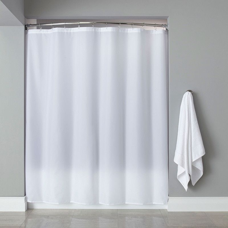 Extra Long Heavyweight Mildew Resistant Vinyl Shower Curtain Liner In
