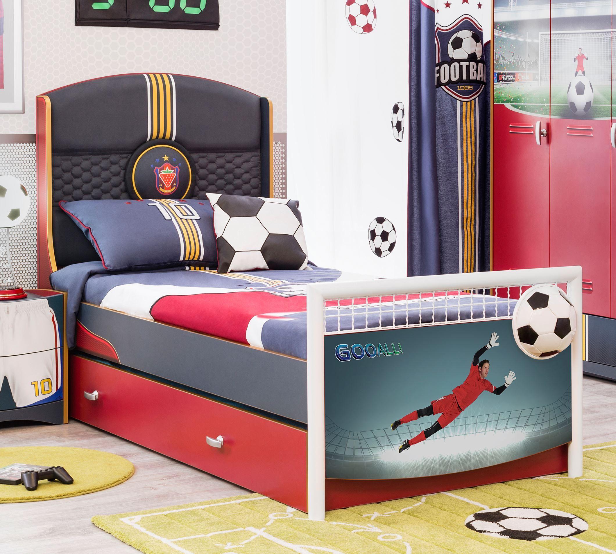Cilek Football S Bett - Kostenloser Versand innerhalb Deutschlands! - Dieses sportliche Kinder- und Jugendbett wird jeden Zuschauer vor Begeisterung von der Tribüne werfen. Ein Bettkasten, der alternativ auch... #kinder #kinderzimmer #kinderbett #cilek