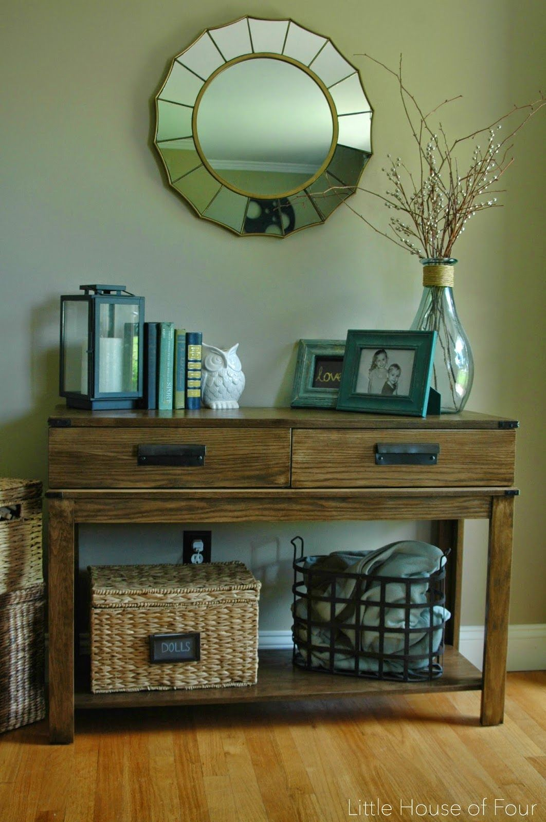 How To Make West Elm Inspired Bin Pulls. Entryway Table DecorationsHallway  ...