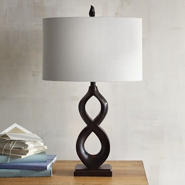 Pier 1 Imports Infinity Table Lamp Brown ($50) ❤ Liked On Polyvore  Featuring Home