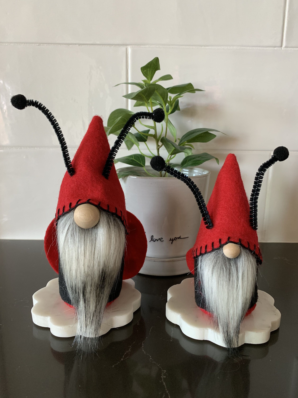 Ladybug Gnome, Spring Gnome, Summer Gnome, Garden