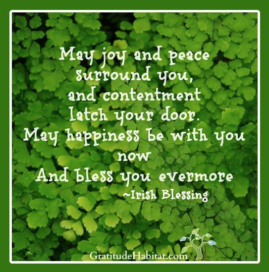 Good Luck Prayer Quotes: Irish Blessing: May Peace And Joy Surround You