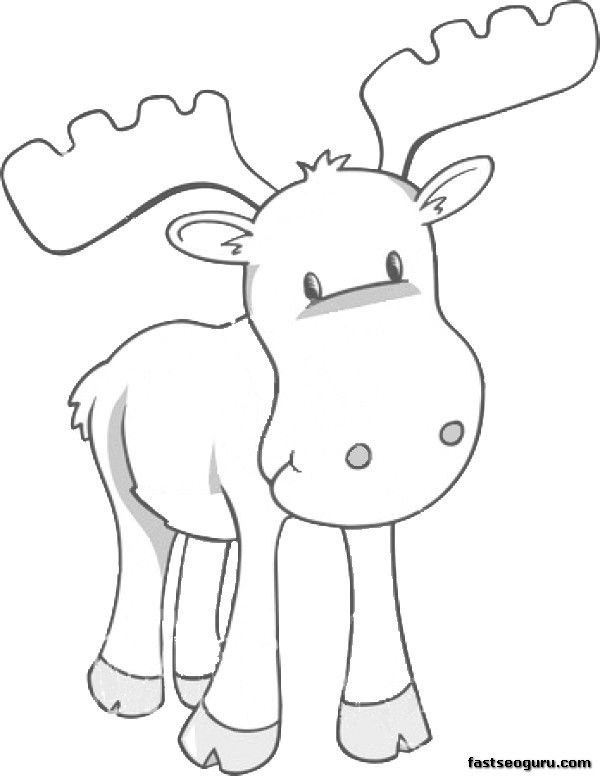 printable coloring page moose for kids   Education   Pinterest ...