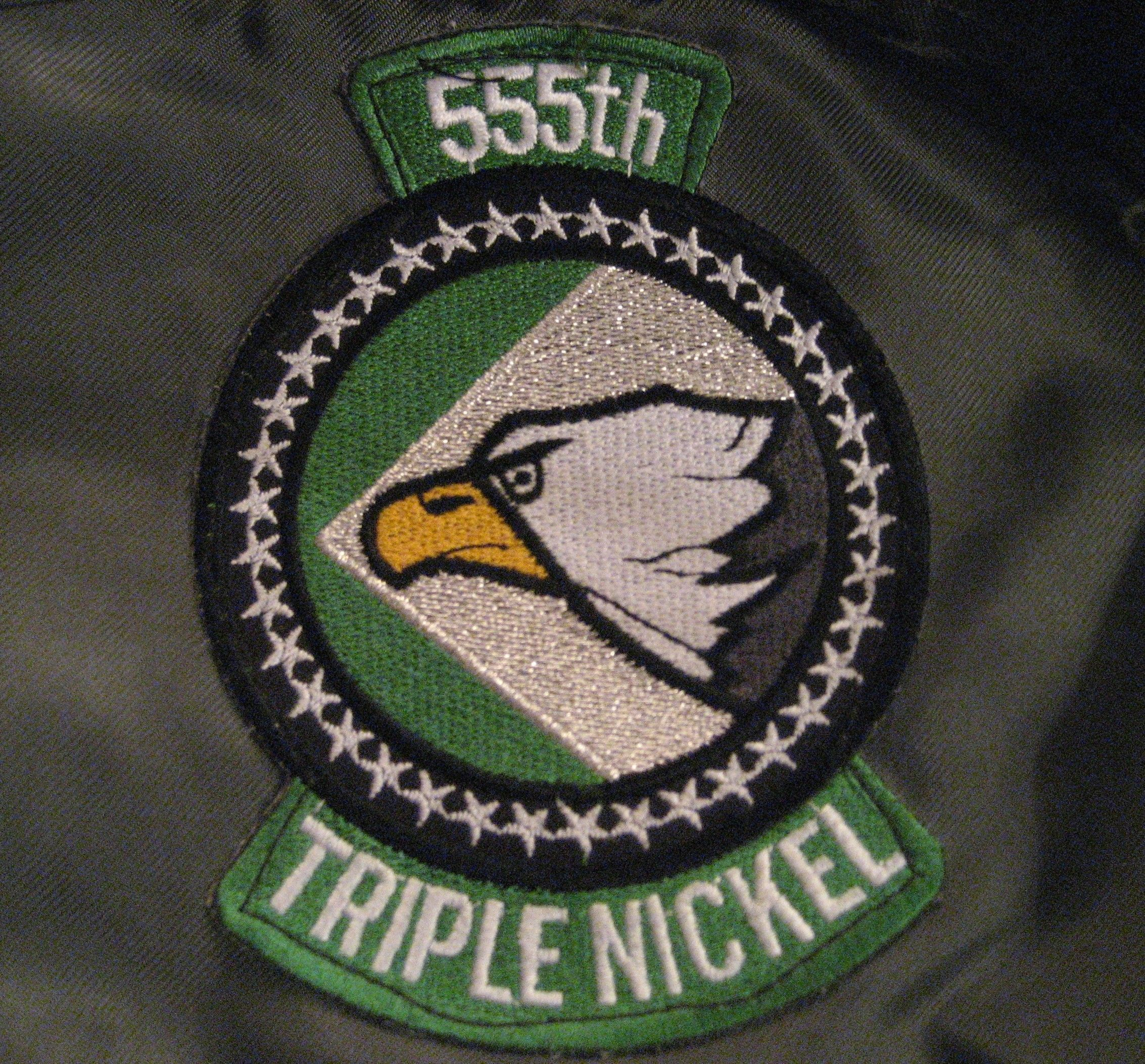 USAF US Air Force 555th Fighter Squadron Military Patch TRIPLE NICKEL