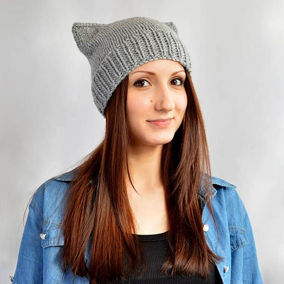 Cat Hat Womens Hat Cat Ear Beanie Cat Ears Bonnet Femme Bonnet Chat ...