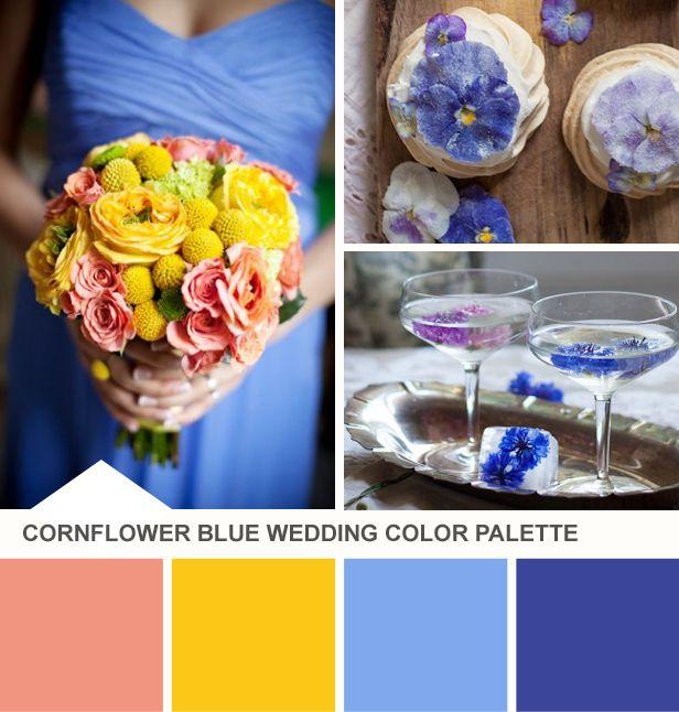 Cornflower And Yellow Wedding Color Palette Http Blog Hgtv
