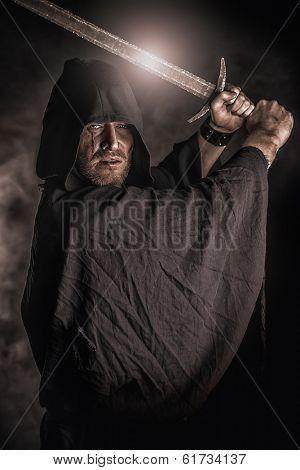 Wrinkled cloak.