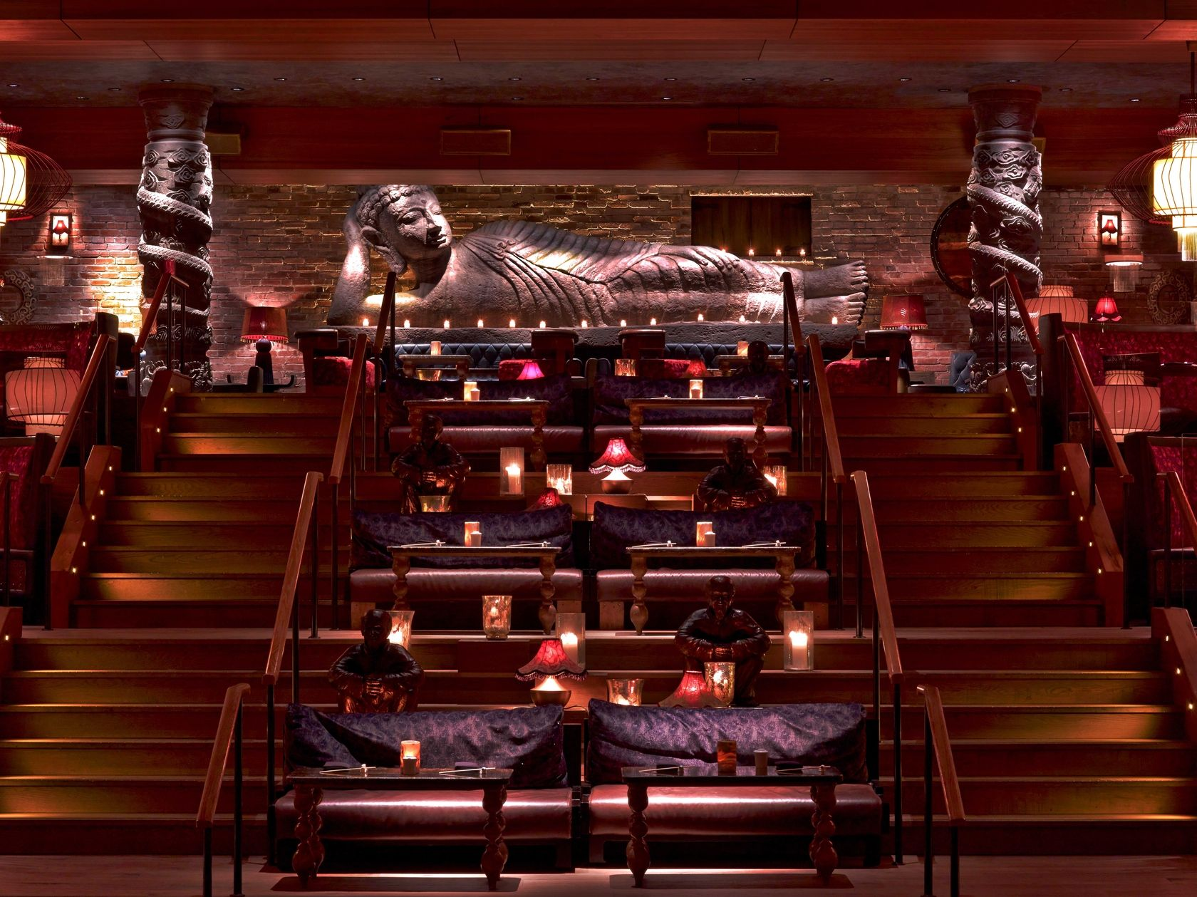 Tao Downtown In Nyc Designed By The Rockwell Group Cool Restaurant Design Restaurant New York Downtown Restaurants
