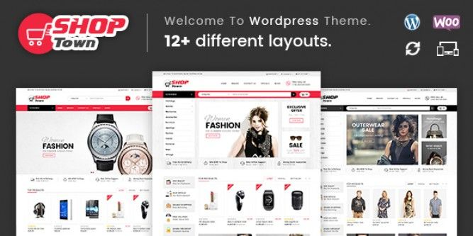 Free Download Shop Town - Multipurpose WooCommerce Theme | Download ...