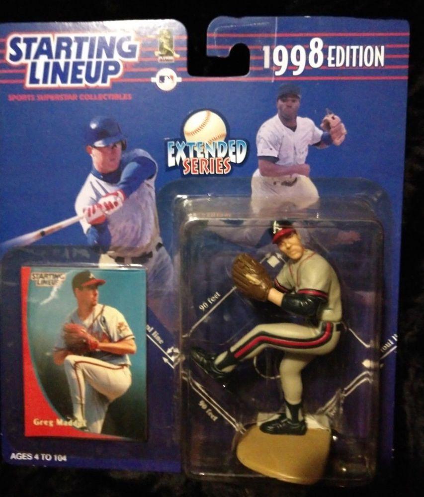 New 1998 Greg Maddux Starting Lineup Slu Sports Figurine Atlanta Braves Kenner Greg Maddux Atlanta Braves Sports