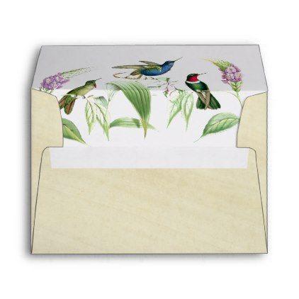 hummingbird birds flowers rice paper envelope diy pinterest