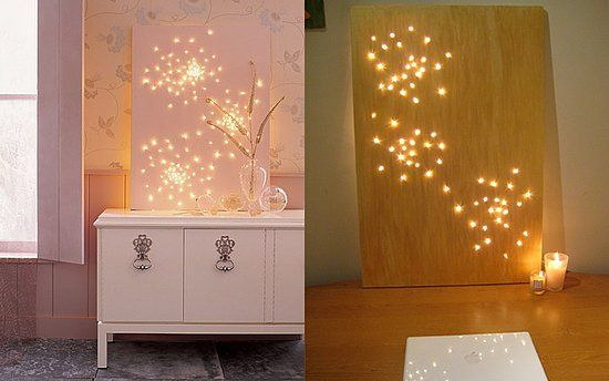 Light Bright Canvas Constellation Art   20 Cheap And Affordable DIY Home  Decor Ideas.beautiful For Baby Of Young Child Room As Night Light