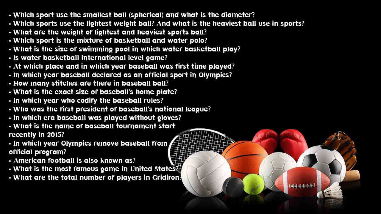 You haven't seen this sports trivia auestions list on
