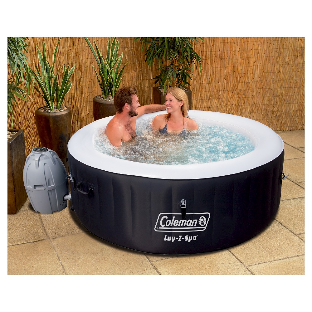 Coleman Lay Z Spa Inflatable Hot Tub Black Inflatable Hot Tubs