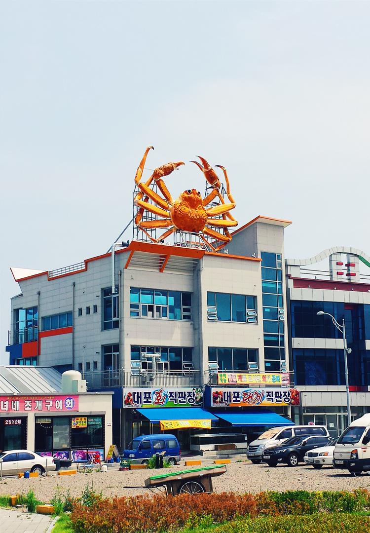 A praia de Sokcho 속초