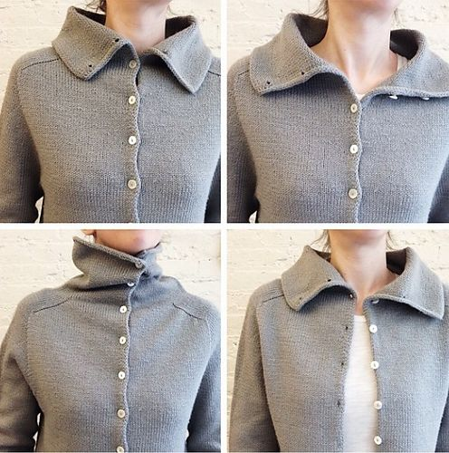 Top-Down Turtleneck Cardigan pattern by Purl Soho   knit, sew