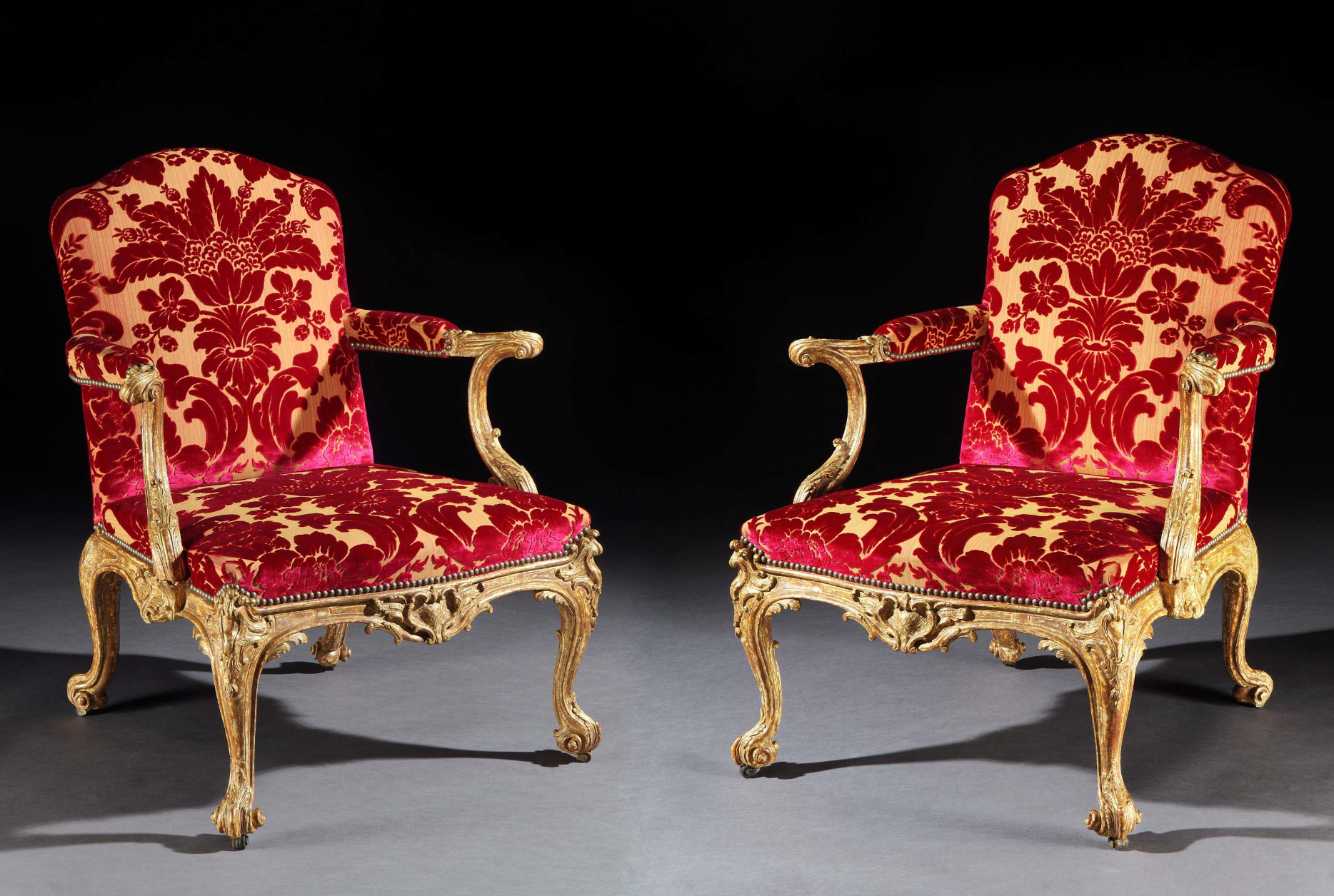 Ronald Phillips antique pair of armchairs