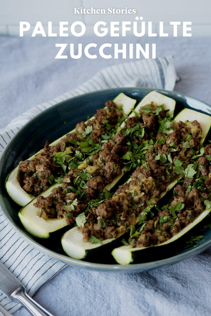 Paleo gefüllte Zucchini - Rezept - Rezepte, Ketogene diät..