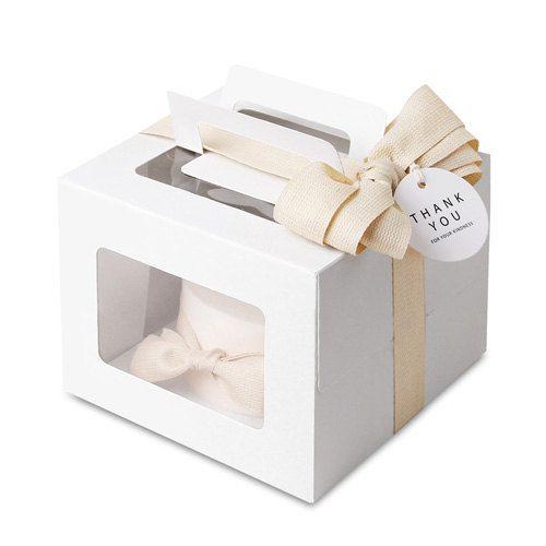 5 X Modern White Mini Cake Box Pie Boxes Small Baking Bakery Muffin